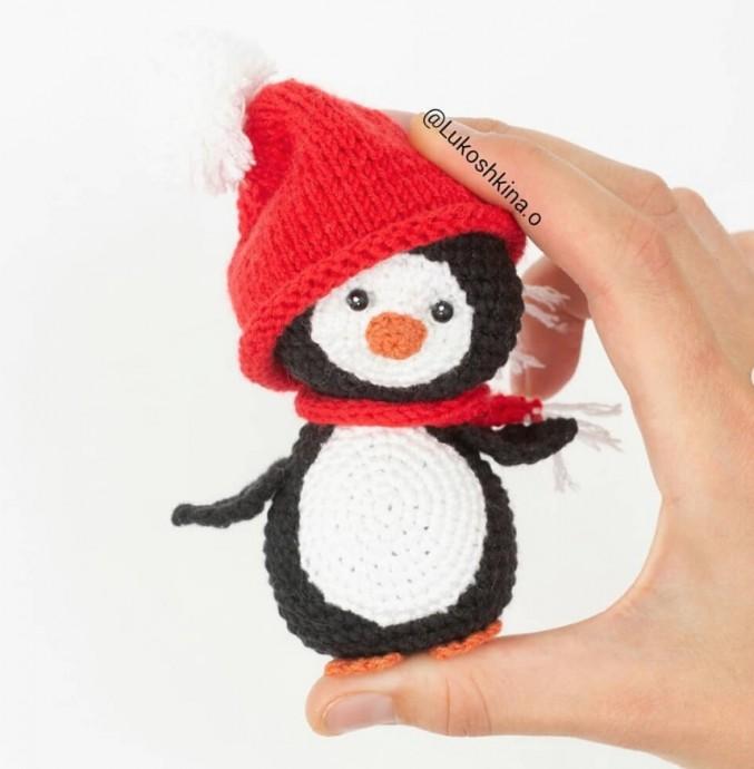 Вязаный пингвинчик 0