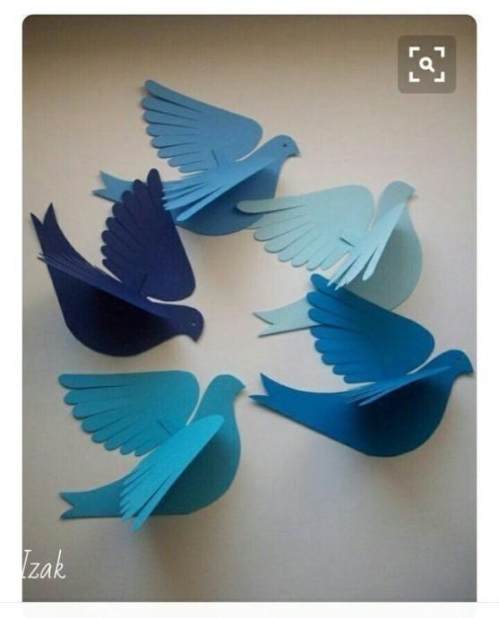 Голуби из бумаги