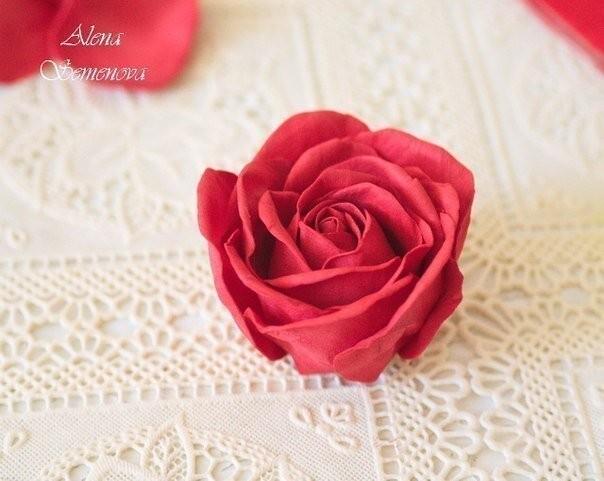 """Объёмная открытка """"Сердце с розой"""""""