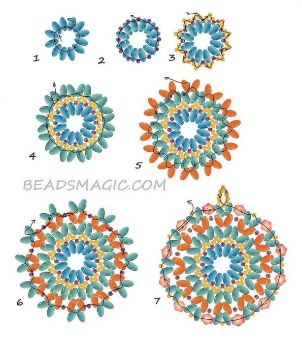Серьги и кулоны из бисера для маленьких принцесс: схемы плетения