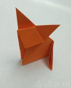 Лисичка в технике оригами