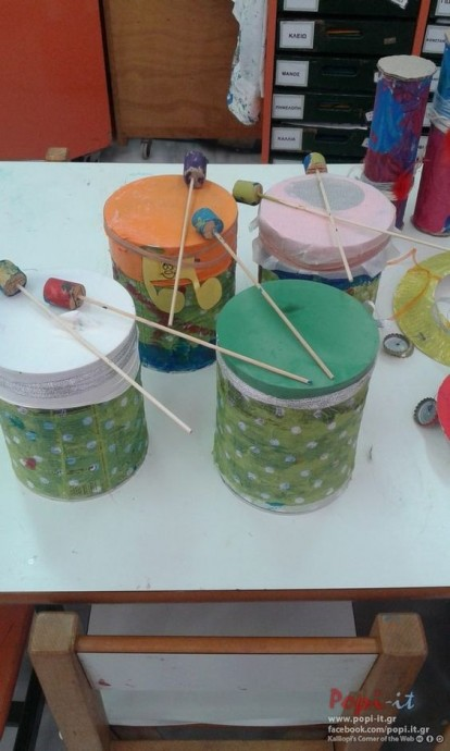 Создаем музыкальные инструменты детскими руками