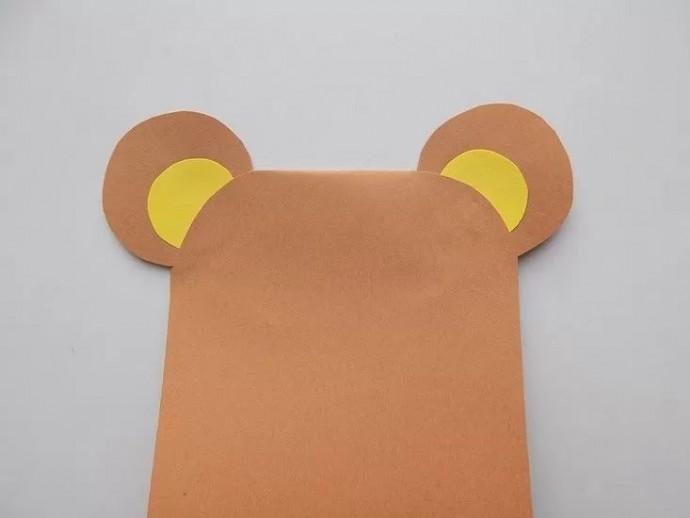 Медвежонок из бумаги