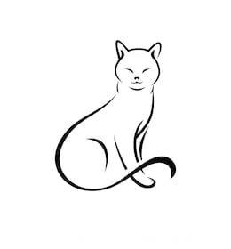 Рисуем с детьми силуэты кошек