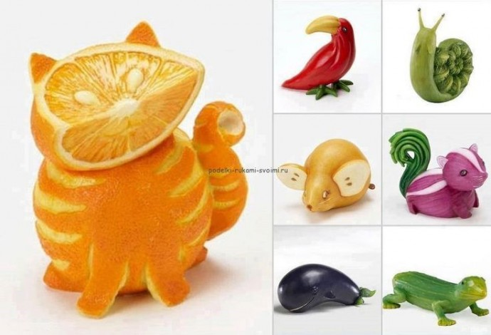 Съедобные поделки из овощей и фруктов 1