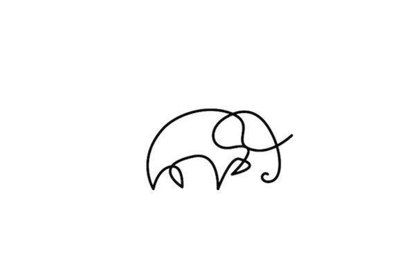 Животные, нарисованные одной линией 3