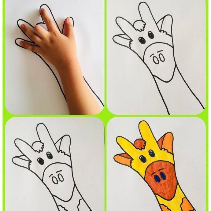 Идеи для рисования ладошками