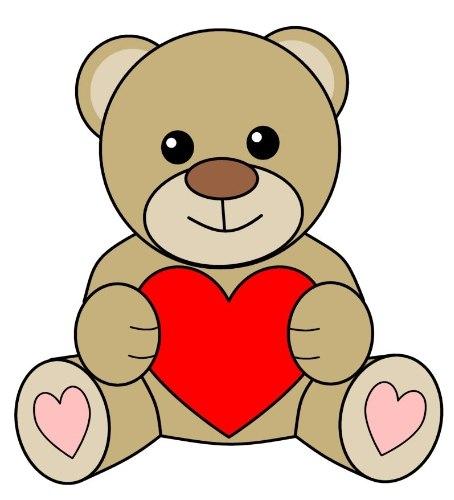 Как нарисовать медвежонка с сердечком 0