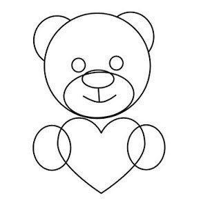 Как нарисовать медвежонка с сердечком 3