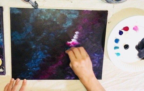 Рисуем с детьми галактику