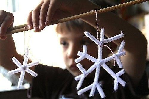 Снежинка из кристаллов соли