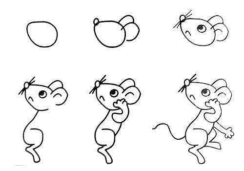 10 примеров, как нарисовать зверей поэтапно 3