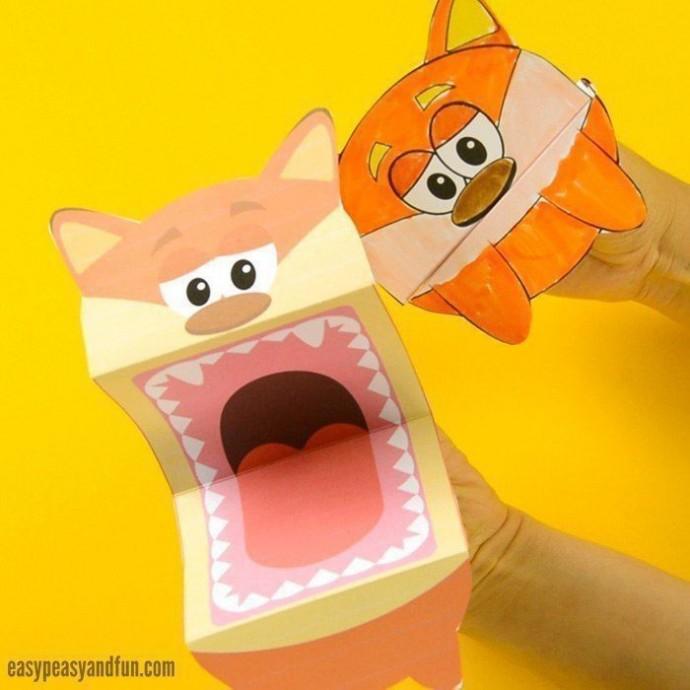 Разные игрушки с открывающимися ртами
