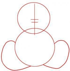 Рисуем мишку Тедди 1
