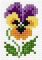 Схемы вышивки цветочков