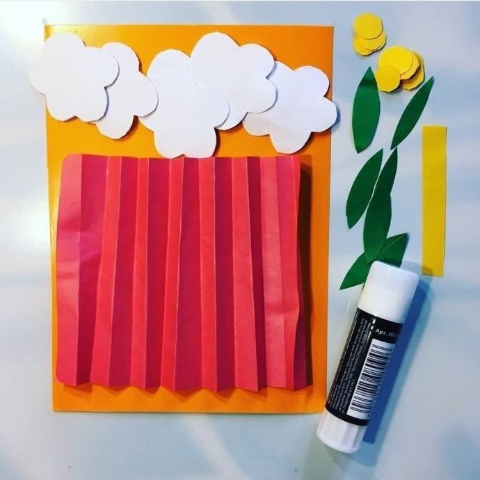 Букет ромашек из цветной бумаги