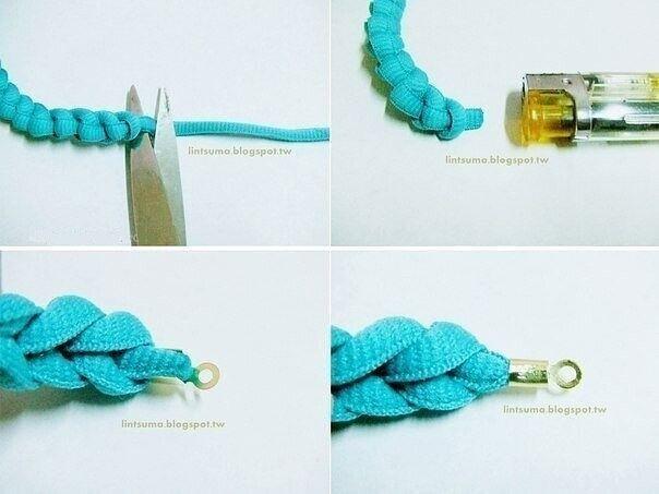 Делаем браслет из шнурка