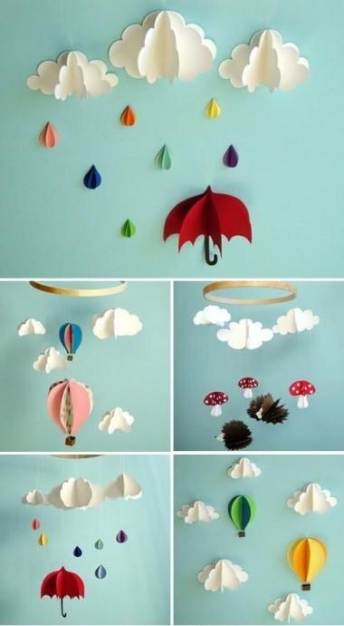 Яркие бумажные зонтики