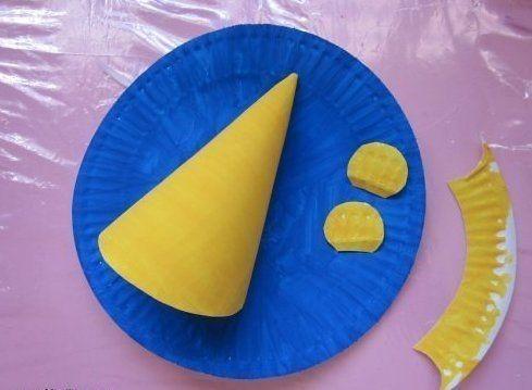Мышка из бумажной тарелки