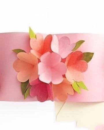 Открытка с букетом цветов