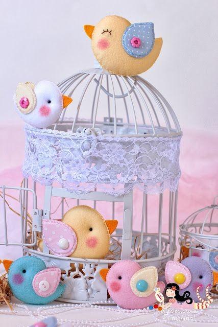 Птички из фетра