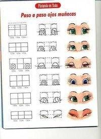 Рисуем и вышиваем красивые глазки куклам: отличные идеи и шаблоны
