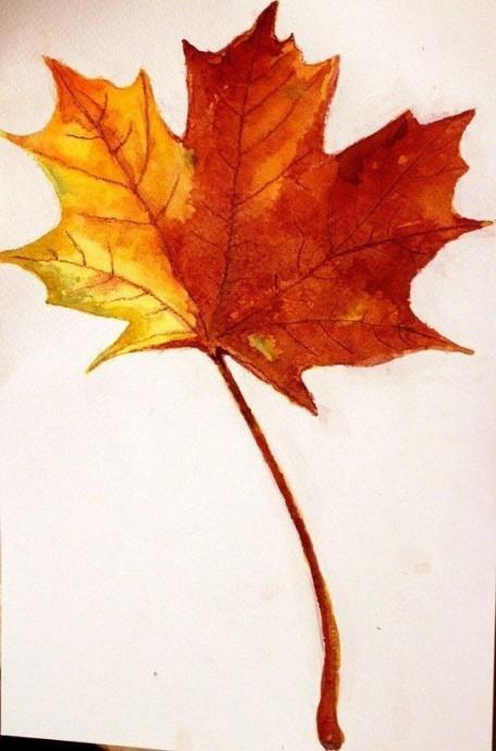 Рисуем с детьми осенние кленовые листья