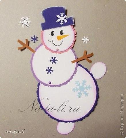 Снеговичок в необычном ракурсе
