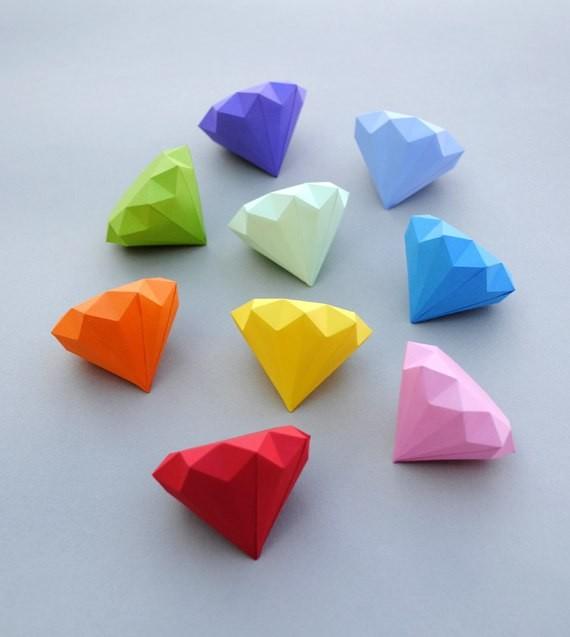 Бумажные алмазики