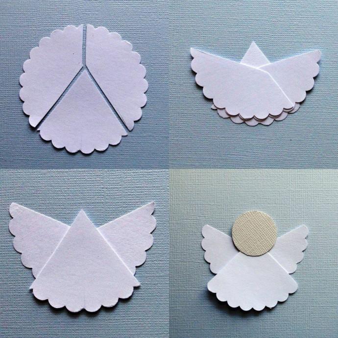 Очень простой способ создания ангелочков к Рождеству с детьми 0