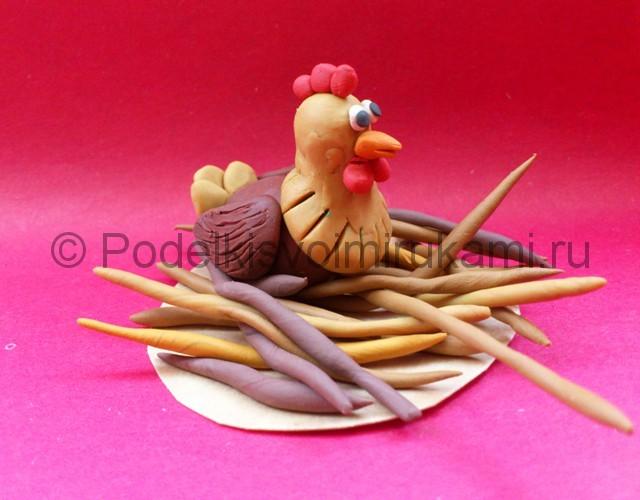 Лепим с детьми курицу из пластилина
