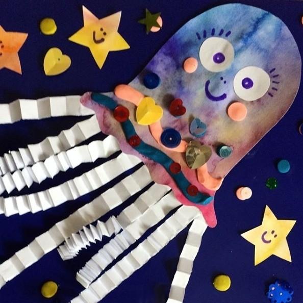 Медуза с объемными щупальцами