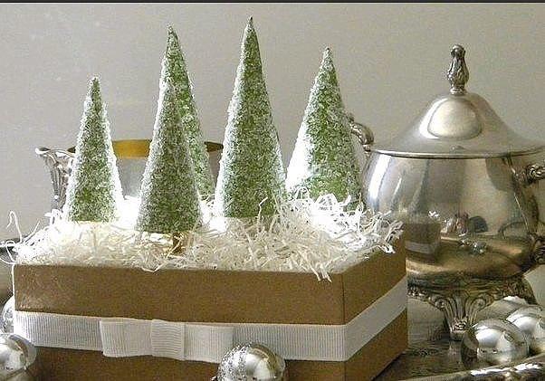 Новогодняя ёлочка из соли и плотной бумаги 4