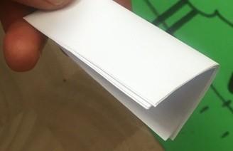 Овечка из сложенной нарезанной бумаги