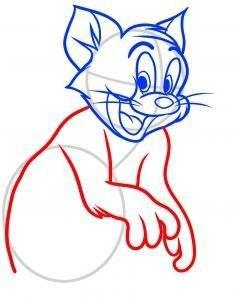 Рисуем кота Тома