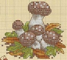 Грибная поляна: большая подборка схем детской вышивки