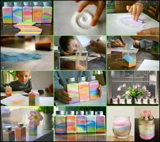 Игры с разноцветным песком