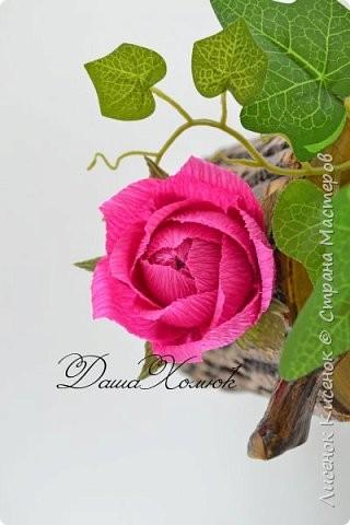 Роза из гофрированной бумаги: мастер-класс 9