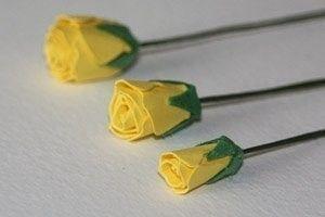 Как сделать розы из бумаги 0