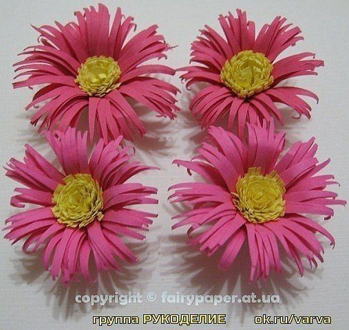Крaсивые цветы для панно из бумаги на быструю руку