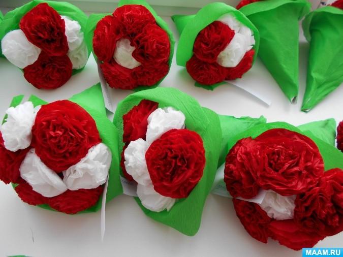 Объёмный букет цветов для любимой мамочки
