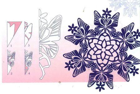 Схемы головокружительных снежинок 1