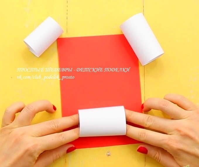 Объемный снеговичок из бумаги