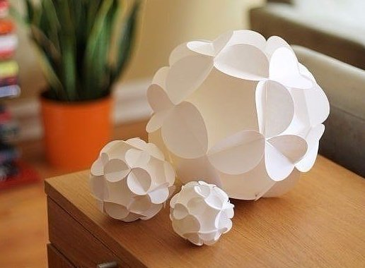 Шары из бумаги для декора 2