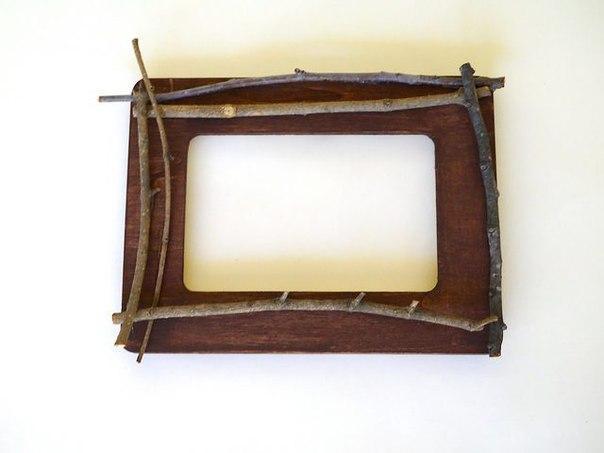 Фоторамка из веточек