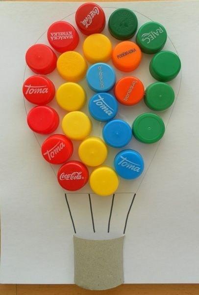 Идеи поделок из крышек от пластиковых бутылок