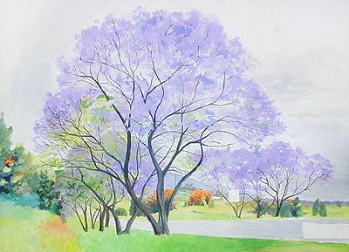 Рисуем весенний пейзаж акварелью