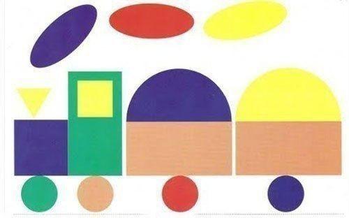 Геометрическая аппликация для детей с 1-3х лет