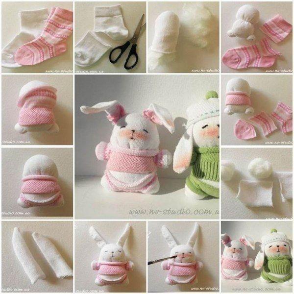 Милые игрушки из носков: мастер-класс
