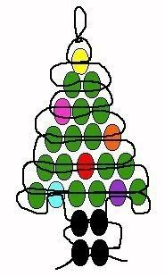 Ёлочка, снеговик и Дед Мороз из бисера 6